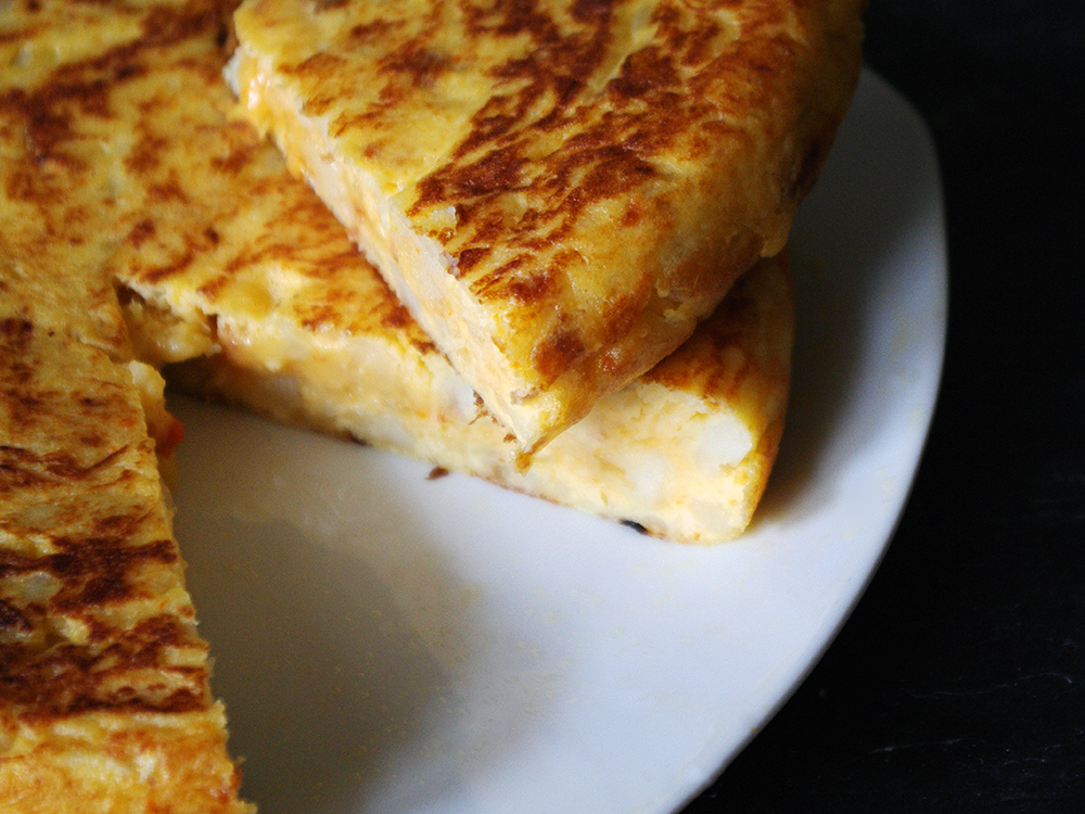 Truita de Patata, Ceba i Sobrassada