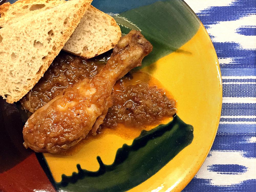 Cuixes de pollastre amb mel i sobrassada